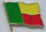 Benin Country Flag Enamel Pin Badge
